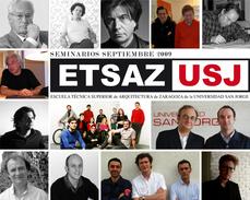 Mangado, Bohigas, Ferrater, Herreros, Tuñón y Quetglas abrirán el primer curso de la ETSA Zaragoza de la USJ