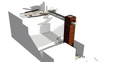 Un nuevo ascensor urbano hace más accesible el centro de Teruel