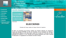 12NOV: elecciones en el Consejo Andaluz de Colegios Oficiales de Arquitectos