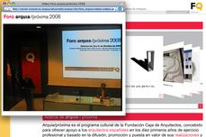 arquia/próxima FQ, convocatoria, vídeos y web actualizados... ¡participa! ¡mira! ¡comparte!