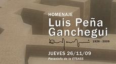 Homenaje a Luis Peña Ganchegui