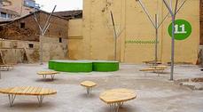 Zaragoza inaugura su primera plaza diseñada por niños