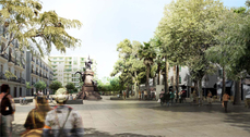 'Sota Vila' proyecto de aldayjover arquitectura y paisaje ganador del concurso de ideas para la remodelación del paseo de Vara de Rey, la plaza del Parque y su entorno (Ibiza)