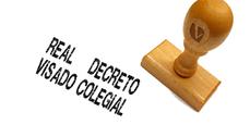 Publicado el proyecto de Real Decreto de visados obligatorios