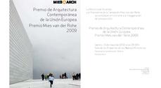 Exposición Premios Mies Van der Rohe 2009