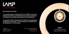 LAMP presenta en Lumen's la luminaria DUET diseñada por Jordi Ribaudí y Jordi Masvidal