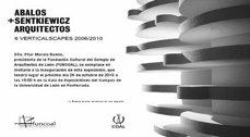 """Exposición """"6 Verticalscapes 2006/2010"""" de Abalos+Sentkiewicz"""