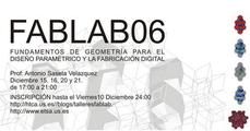 Taller de Fundamentos de Geometría para el diseño paramétrico y la fabricación digital