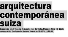 """Exposición """"Arquitectura contemporánea suiza"""""""