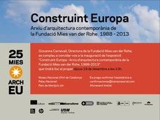 """Exposición """"Construint Europa"""", de premios Mies van der Rohe 1988-2013"""
