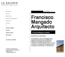 Mangado integral en La Galerie d'architecture de París