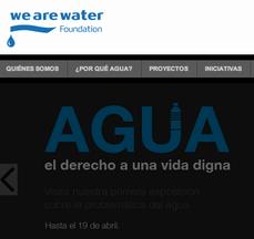 ¡agua!