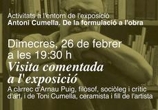 """Visita guiada a la exposición """"Antoni Cumella, de la formulación a la obra"""""""