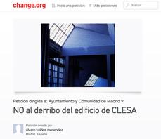 URGENCIAS: NO al derribo del edificio de CLESA, recolecta de firmas