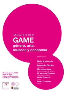 GAME (Género, Arte, Museos y Economía), Pamplona, 20MAR a las 19h