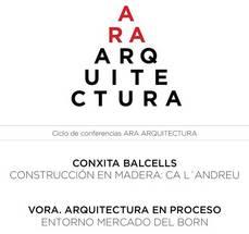 Balcells y Vora en ARA Arquitectura, 24MAR, 19h30, BCN