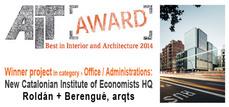 Premios AIT 2014 para obras de Roldán+Berengué, RCR, b720, MGM y Nieto Sobejano