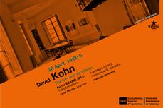 DAVID KOHN en Barcelona, ESARQ-UIC, 28ABR 19h00