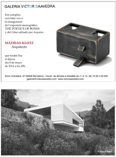 The Poetic of Boxes, expo Mathias Klotz en BCN