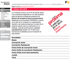 Abierta la convocatoria de la V edición 2014-2015 del programa arquia/próxima para jóvenes arquitectos