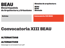 Convocatoria XIII BEAU, Bienal Española de Arquitectura y Urbanismo