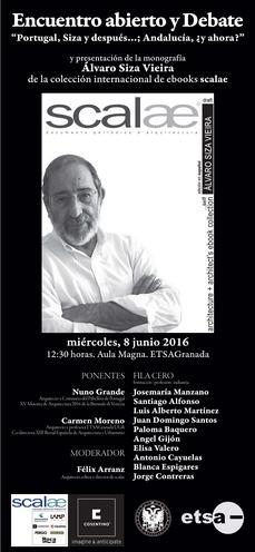 cita en Granada: ebook scalae ÁLVARO SIZA y debate PORTUGAL·ANDALUCÍA ¿arquitectura hoy?