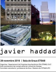 BCN > opciones y actitudes de quienes comienzan... en la experiencia de Javier Haddad