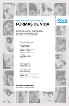 """Espacio íntimo · espacio público: """"Formas de Vida"""", Arquitectura, Arte y Literatura en el ROCA Barcelona Gallery, 22N"""