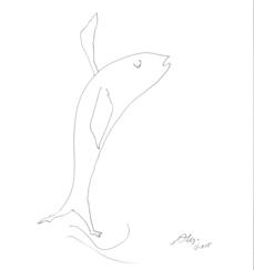 Peixe com pés (pez con pies), por Álvaro Siza Vieira