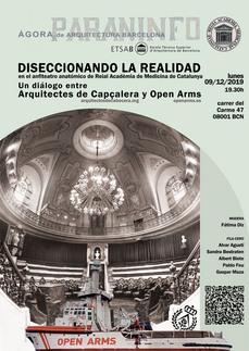 Open Arms y Arquitectes de Capçalera, diseccionando la realidad, en la Reial Acadèmia de Medicina de Catalunya. Barcelona