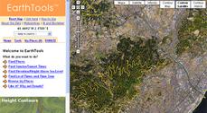 Curvas de nivel y cortes topográficos sobre Mapas de Google
