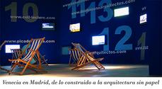 Exposición Pabellón Español de la XI Bienal de Venecia en la sala Arquerías de Nuevos Ministerios